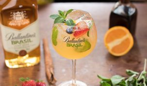 ballantine's brasil lime tonic drink