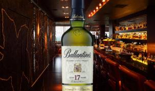 garrafa de whisky ballantine's 17 anos