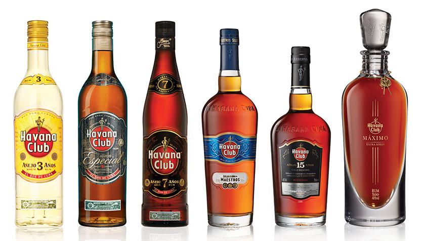 bebidas premiadas de rum havana club 3 años, especial, 7 años, selección de maestros, 15 años e máximo