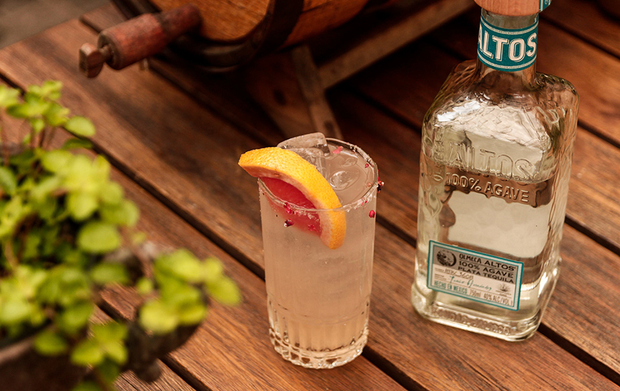 drink com altos tequila para peixes e frutos do mar
