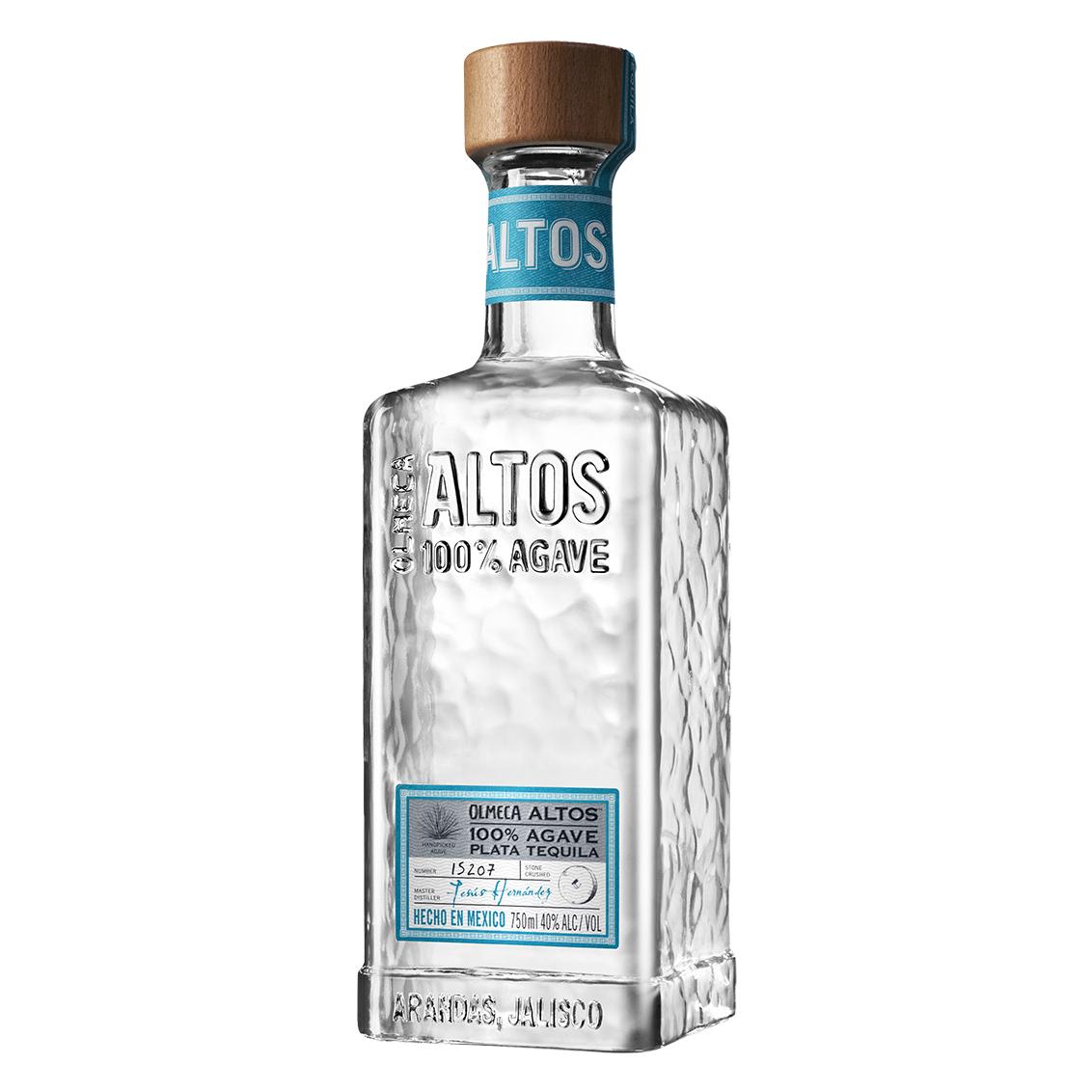 garrafa de altos tequila plata