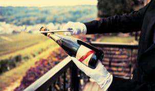 sabrar garrafa de champagne