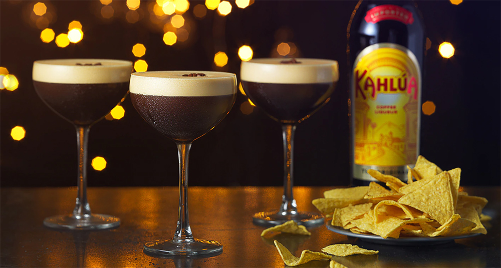 drinks com licor de café kahlúa