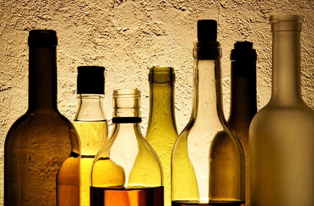 garrafas de bebidas para degustação