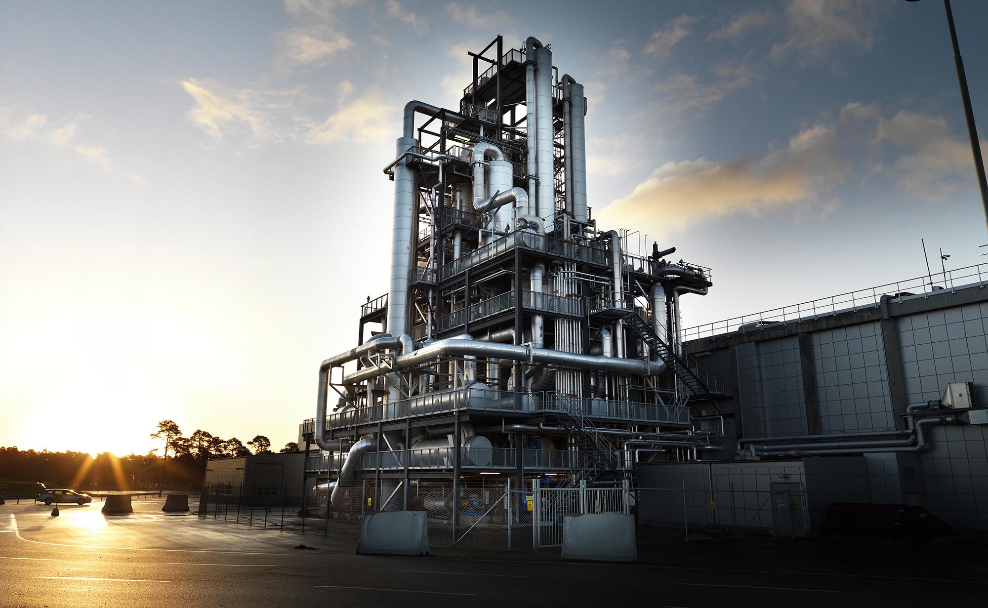 coluna contínua de destilação