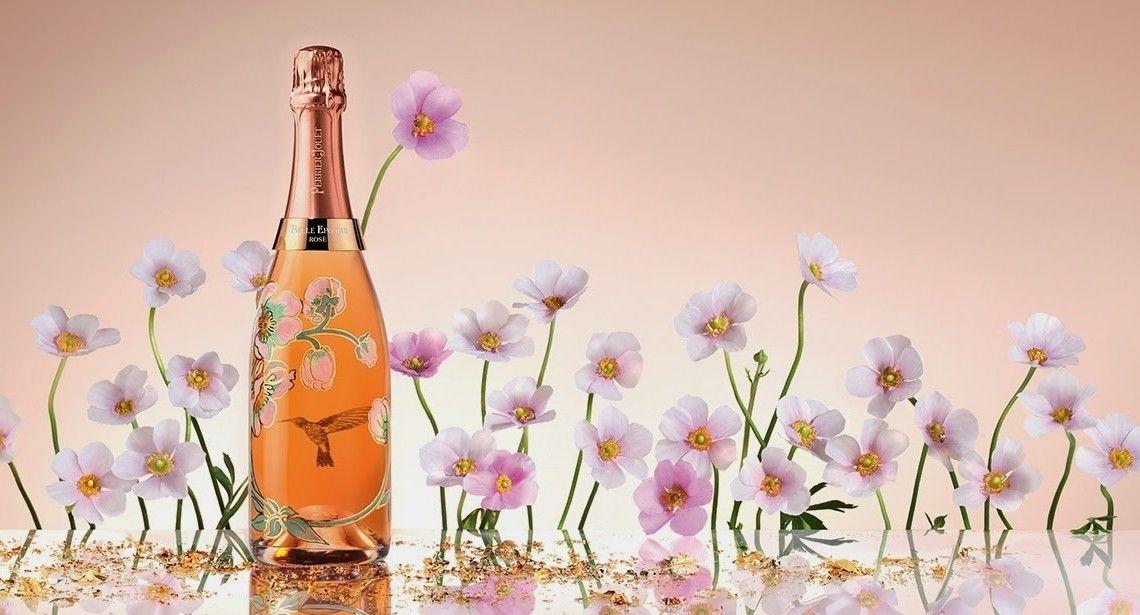 garrafa de perrier-jout belle epoque rosé 2005