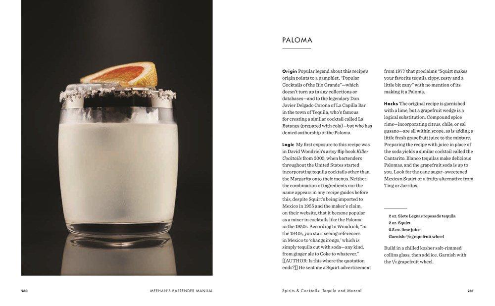 receita do drink paloma no Meehan's bartender manual
