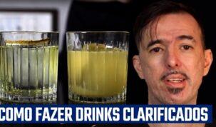capa da aula sobre como fazer drinks clarificados