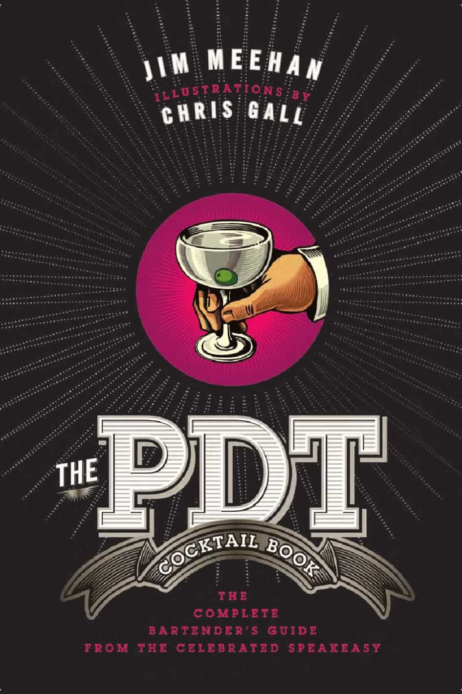 capa do livro the pdt cocktail book