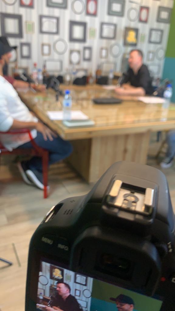 estúdio de gravação do papo dosado
