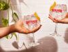 duas taças de gin tônica beefeater